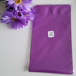 25 Purple Poly Mailers Self Seal Non-Padded 6X9 in